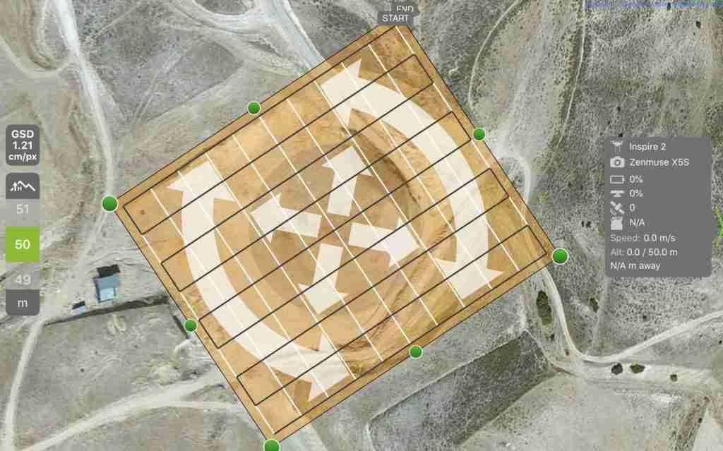 drones para medir tierras - aeromontes