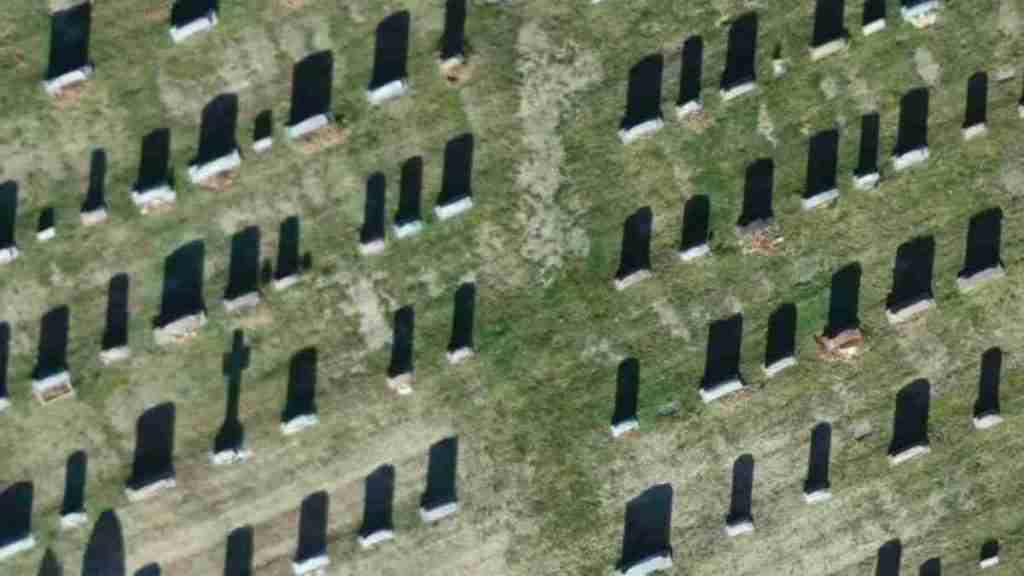 Analisis de cementerio con drone, por Pix4D