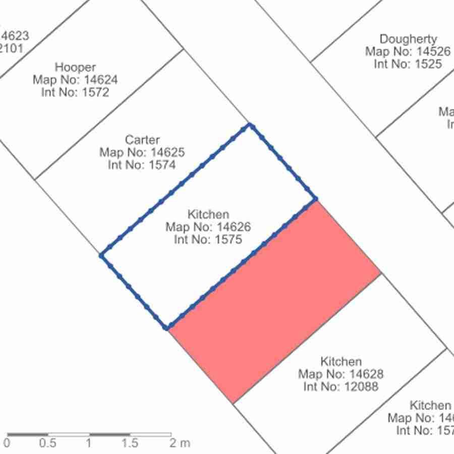 Organización de lápidas desde plano aéreo, por pix4D